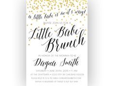 Baby Shower Brunch Invitation Little Babe By KirraReynaDesigns