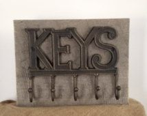 Key holder, rustic key hook, barn wood, home organizer, wall key rack, leash holder, office organizer, key hanger