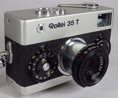 Rollei 35 T, 35mm Film Camera, 40mm Tessar Lens w Case