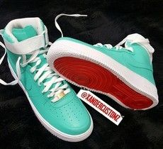 more photos 968b8 b94e9 Tiffany Red Bottom Nike Air Force ones ( Boys Grade School)   Just Shoes,  Shoes, and MORE Shoes!   Nike air force ones, Nike shoes, Nike air force