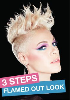 There are only 3 easy steps to get this gorgeous flamed out look, just like our COVERGIRL P!NK!