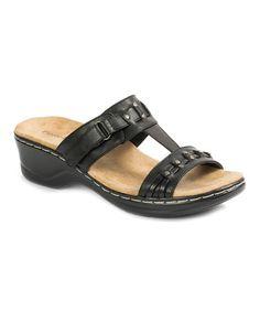 Another great find on #zulily! Black Aleisha Wedge Sandal #zulilyfinds