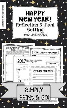 Students (and teachers!) can easily reflect on the past year and set a goal for the new year with this print-and-go product!