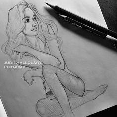 Instagram media by juditmallolart - Doodling this beauty @emmyrossum