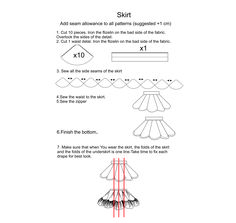 Length of the skirt: 12,6 inches or 32 centimeters. Pattern in sizes XS, S, M, L ( EU 34, 36, 38, 40, 42). The Pattern is in PDF format. You will need to glue some details together. This PDF doesn't include a tutorial on how to sew it. For a regular A4 format printer. The pattern itself is really simple to sew. On the same note, please have in mind that this type of evening skirt requires putting a bit more time into sewing (the underskirt has a lot of ruffles). Handmade Skirts, Handmade Clothes, Sewing Patterns Free, Free Sewing, Evening Skirts, High Waisted Shorts, 6 Inches, A4, Ruffles