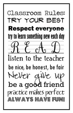 Classroom Collection: Classroom Rules (Classic Black and White)