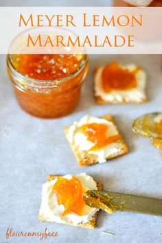 Meyer Lemon Marmalade made 4 different ways with vanilla and ginger. A great way to use up an abundance of meyer lemons.
