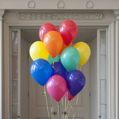 Pack Of 14 Rainbow Bright Party Balloons by Bubblegum Balloons, the perfect gift for Explore more unique gifts in our curated marketplace. Colorful Birthday, Rainbow Birthday Party, Rainbow Theme, 6th Birthday Parties, Rainbow Colors, Rainbow Party Decorations, Birthday Party Decorations, Party Themes, Decoration Party