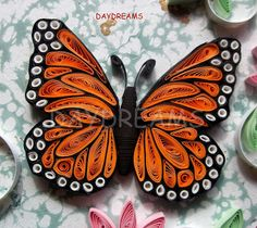Quilled monarch butterfly by Suganthi