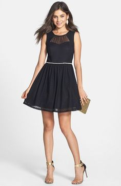 Way-In Textured Skater Dress (Juniors) available at #Nordstrom