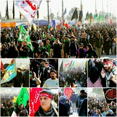 [ Convoys of Imam Hussein's Lovers Heading Towards his Holy Shrine to which Only Blessed Souls can Reach ]  #17Safar1437 #ArbaeenWalk #LabbayakYaHussein
