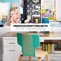 Paint projects to give your home a pop of color in a weekend: http://www.bhg.com/home-improvement/weekend-projects/?socsrc=bhgpin052715weekendprojects