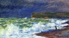 The Beach at Fecamp, 1881 - Claude Monet (French, 1840-1926) Impressionism