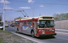 Trolebús New Flyer, en 1987.