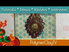 How to make a pretty Bollywood Style wall plaque with polymer clay - YouTube
