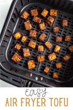 This Air Fryer Tofu comes together with just 5 simple ingredients! It's deliciously crispy and so versatile for whatever dish you're serving it with. Best Tofu Recipes, Air Fryer Recipes Vegan, Vegan Vegetarian, Vegetarian Recipes, Tasty, Yummy Food, Plant Based Recipes, A Food, Dishes