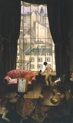 "Christopher Richard Wynne Nevinson ""Studio in Monparnasse"" 1926"