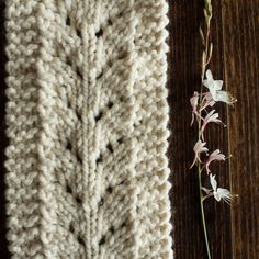 CARING : Scarf Knitting Pattern
