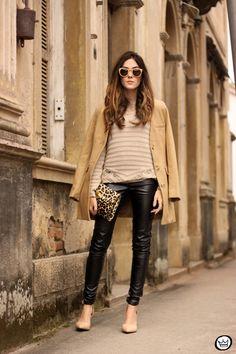 FashionCoolture - 15.06.2015 look du jour Lotus black and camel outfit (1)