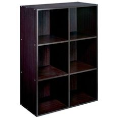 Essential Home Espresso 6 Cube Storage Compact Unit Decor Baskets Organize New | eBay