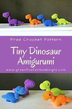 Tiny Dinosaur Amigurumi – Free Crochet Pattern – www.greenfoxfarms… by Elham I… Tiny Dinosaur Amigurumi – Free Crochet Pattern – www.greenfoxfarms… by Elham Ibrahim Crochet Dinosaur Patterns, Crochet Flower Patterns, Crochet Doll Pattern, Crochet Patterns Amigurumi, Crochet Dolls, Crochet Flowers, Crochet Keyring Free Pattern, Crochet Dinosaur Hat, Crocheted Toys