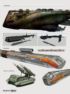 Fallout 4 | Concept Submarine, Monorail, Missile Launcher