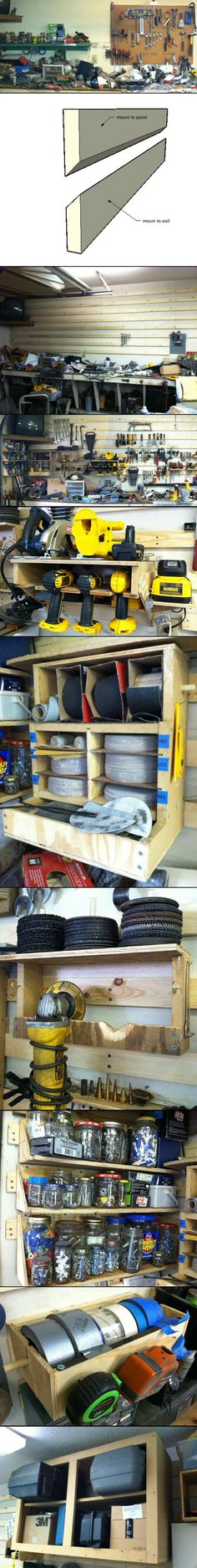 French Cleat System for an auto garage - From: http://67-72chevytrucks.com/vboard/showthread.php?t=570267