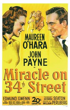 MIRACLE ON 34TH STREET this is my celebrate Thanksgiving and transition into Christmas movie. It also makes me want to shop at Macy's! Classic movie love at its best and a great reason to rip open that turkey-shaped bag of popcorn! *See pin below*