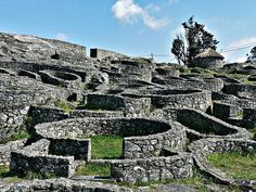 The CASTROS, remains of ancient walled cities, where the Celts lived