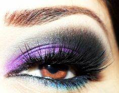 purple images | sexy smokey purple and teal eyeshadow https://www.facebook.com ...