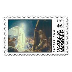Vintage Angels Appear to Shepherds Postage