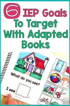 Adapted books are engaging and fun. Students WANT to interact with them, so we need to make sure we are integrating them into IEP goals. Here are 6 goals that you can address through adapted books. Special Education Activities, Autism Education, Autism Activities, Autism Resources, Special Education Classroom, Speech Therapy Activities, Sequencing Activities, Teacher Resources, Life Skills Classroom