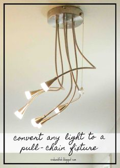 A light fixture with no switch ceiling lights ceilings and lights crabfish convert any light to a pull chain fixture aloadofball Images
