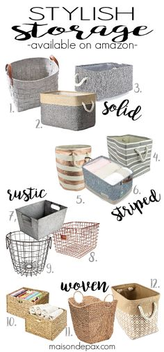 Looking for stylish storage? These baskets and bins are perfect for organizing, sorting, and hiding everything: games, toys, books, blankets, and more. Even better, they're all available on Amazon!