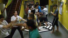 Escola de luta- Ataques, defesas e deslocamentos
