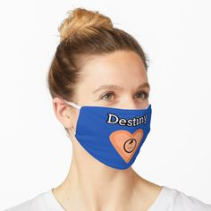 """Destiny Heart"" Mask by Alemway Face Masks, Iphone Case Covers, Destiny, Lesbian, Chiffon Tops, V Neck T Shirt, Classic T Shirts, Names, Branding"
