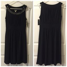 NWT LBD with Beaded Neckline Brand new, no flaws. Perfect cocktail dress for parties, night out, etc. Haani Dresses