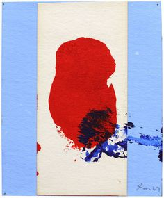Robert Motherwell, Red, White & Blue No. 1 on ArtStack #robert-motherwell #art