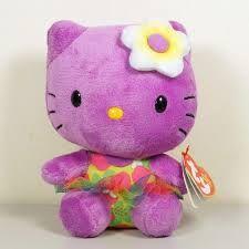 """8"""" plush hello kitty purple"""