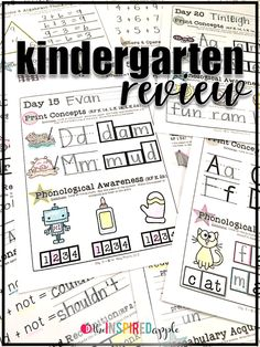 Kindergarten Literacy Review Activities