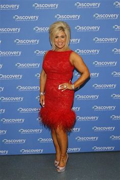 Theresa Caputo, from TLC's Long Island Medium, is seen at the Discovery Communications 2014 Upfront Presentation