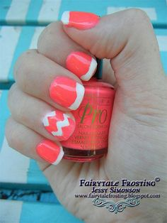 I am presenting easy summer nail art designs, ideas, trends & stickers of I hope you will like the accumulation and try any of these out on your nails. Toe Nail Designs, Nail Polish Designs, Cute Nail Art, Gel Nail Art, Chevron Nail Art, Different Nail Designs, French Tip Nails, Stickers, Simple Nails
