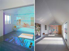 Prismatique Glass Wall, really nice effect.  via tato architects/yo shimada: house in rokko