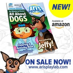 Good morning! Estelle and I are proud to announce that our 3rd book; Ari's Playlab: ALL ABOUT DOGS is on sale now! Kids can learn about different sizes & breeds, as well as the history of dogs! It was a real pleasure for me to draw; I think these are some of my best illustrations! Thanks! Here's the Amazon link: https://www.amazon.com/dp/1976097525