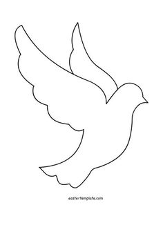 45 ideas embroidery patterns free printables templates for 2019 Felt Crafts, Diy And Crafts, Crafts For Kids, Paper Crafts, First Communion Banner, Easter Templates, Templates Printable Free, Free Printables, Bird Template