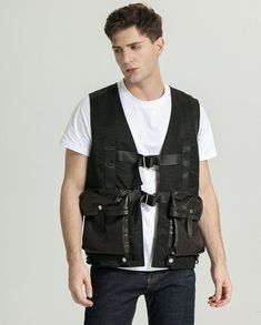 Made with lightweight, water-repellent Cover Cloth and durable hardware, it's built to be used year after year. Two big flap leather pockets allow for ample storage that you can carry your essentials without the worry of losing anything. Make your first fishing trips ones to remember with the Palaleather Fishing Vest. Fishing Vest, Fishing Trips, Boys Leather Jacket, Handsome, Men Casual, Stylish, How To Wear, Essentials, Hardware