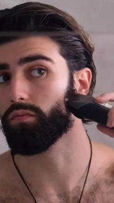 Mens Haircuts Thin Hair, Mens Hairstyles With Beard, Boys Long Hairstyles, Trendy Haircuts, Great Beards, Awesome Beards, Beard Styles For Men, Hair And Beard Styles, Mustache Men