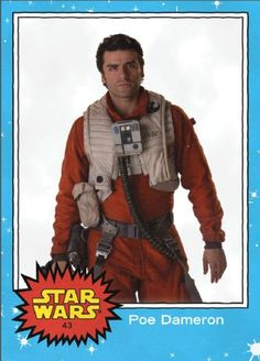 2015 NYCC Exclusive Oversized Topps Star Wars Cards - Poe Dameron - Daily Star Wars News, Reviews & Discussions Source