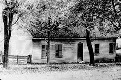 Photograph of the Udney Hyde home, a station on the Underground Railroad on School Street in Mechanicsburg, Champaign County, Ohio.