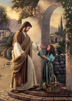 "Christ and a little girl. ""Pure In Heart"" by Simon Dewey God and Jesus Christ Lds Pictures, Catholic Pictures, Print Pictures, Scripture Pictures, Images Du Christ, Pictures Of Jesus Christ, Jesus Art, God Jesus, Simon Dewey"